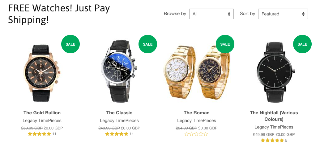 Just pay shipping e-commerce scam