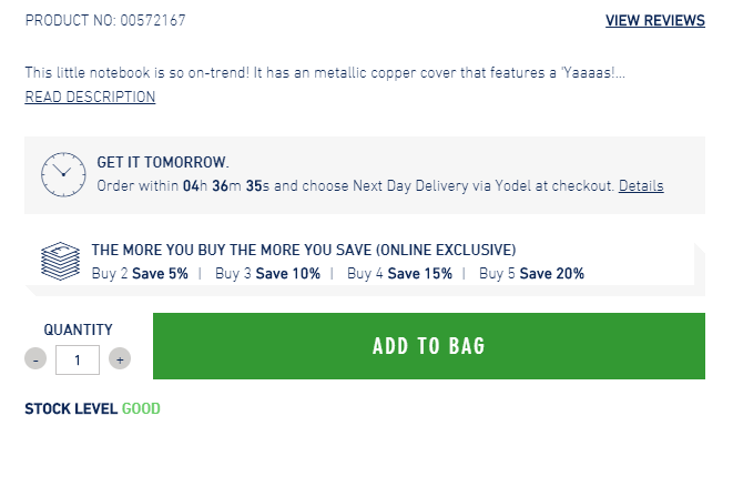 Paperchase Delivery Method
