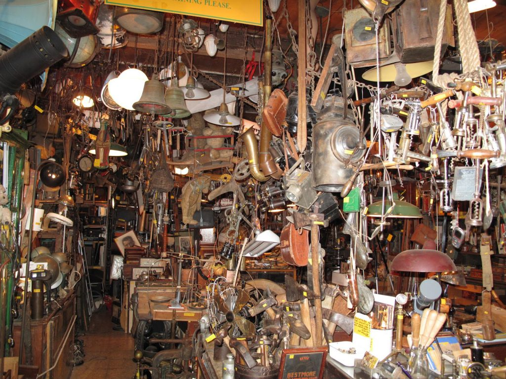 Cluttered store