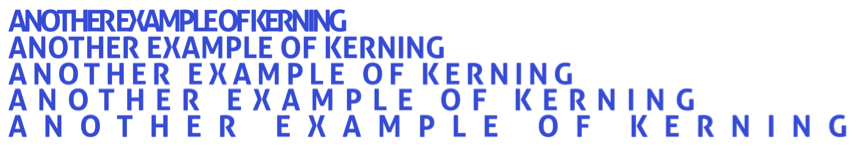 An example of kerning