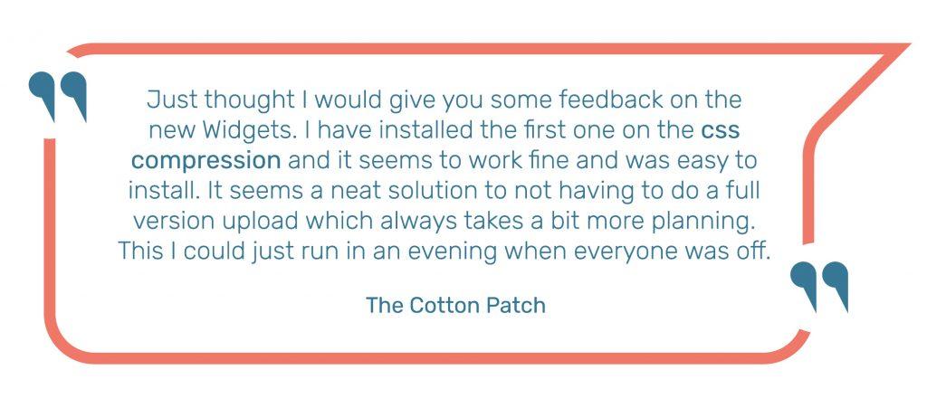 The Cotton Patch Sellerdeck Desktop Widget Quote