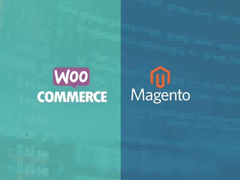 WooCommerce vs Magento Banner Image with logos