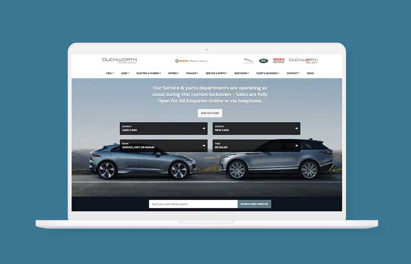 Duckworth Cars Website by Sellerdeck